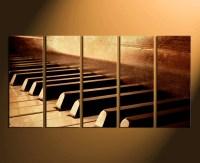 5 Piece Canvas Wall Art, Musical Instrument Huge Canvas ...