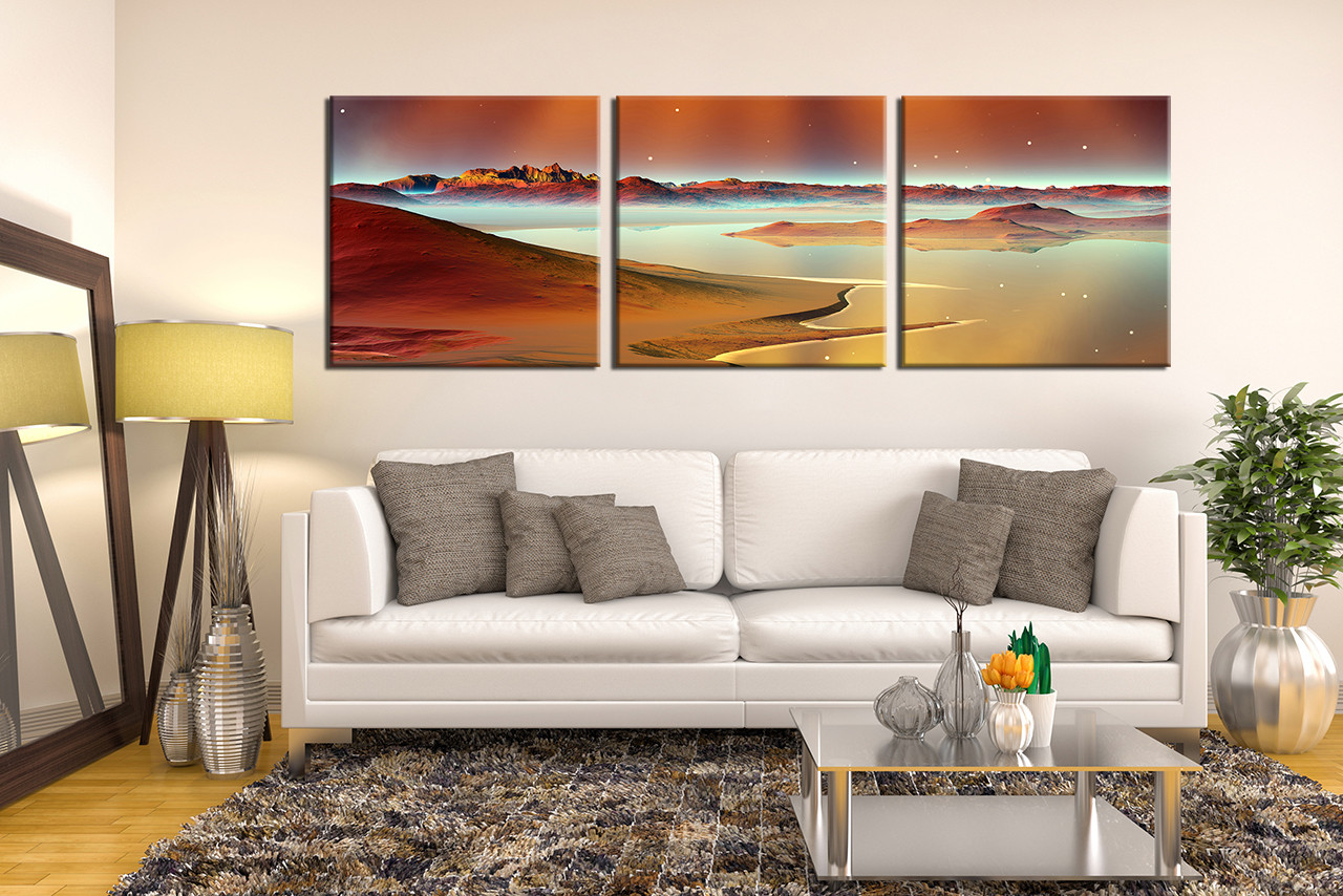 Sweet 3 Piece Huge Canvas Art Ocean Multi Panel Print Sea Photo Canvas Beach Panoramic Large S Mountain Canvas Photography Brown Desert Artwork 4 42732 photos Panoramic Canvas Prints
