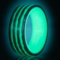 Bright Stripe Carbon Fiber Glow Ring  Saturn Glow Ring