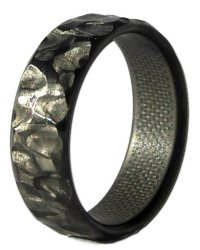 Rock Fiber Narrow Carbon Ring - Unique Titanium Rings ...