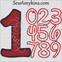 Disney Number applique machine embroidery designs Numbers ...