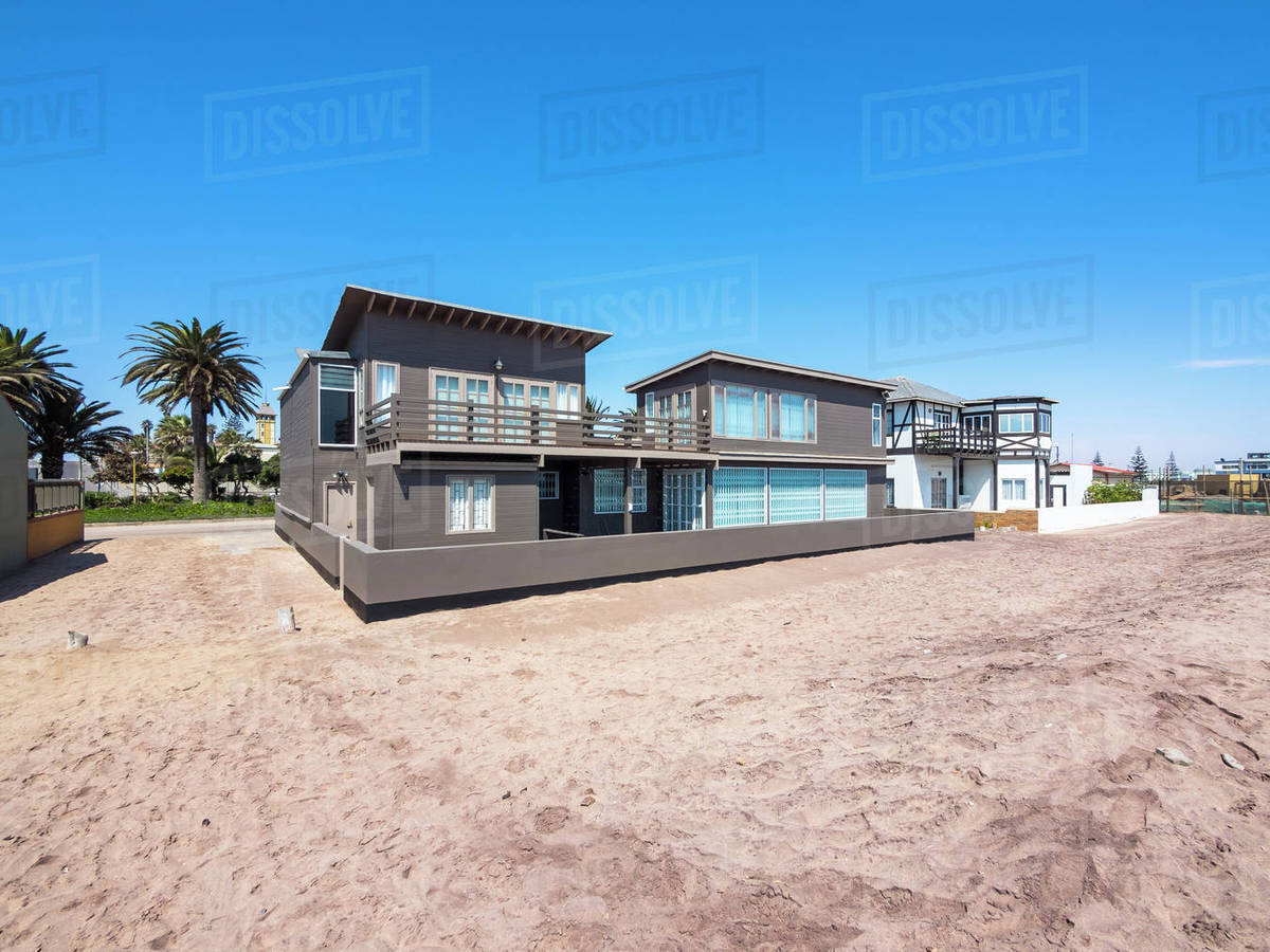 Bauhaus Villa Namibia Swakopmund Modern Villas Bauhaus Style On Beach Stock Photo