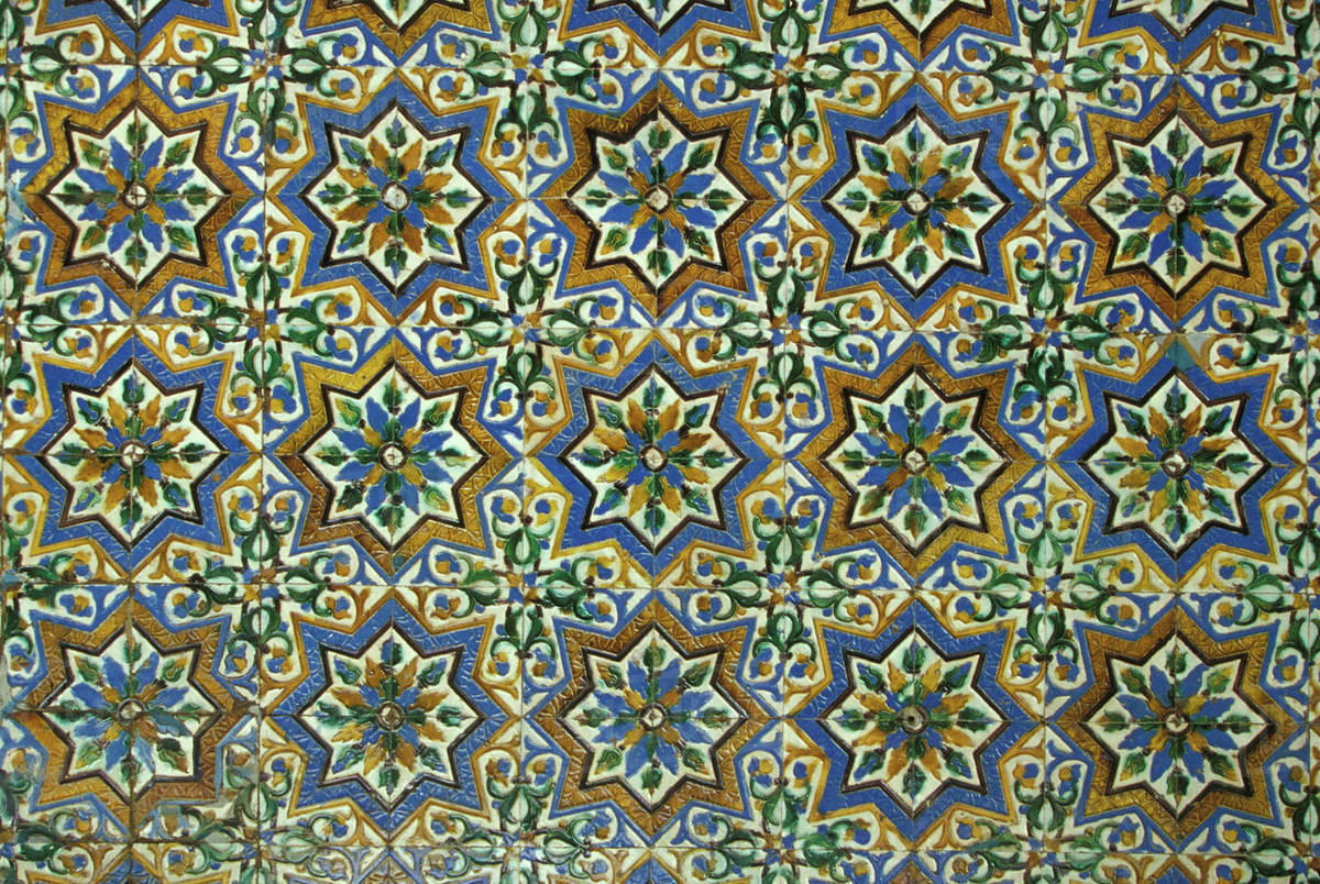 Azulejos Sevilla Spain Sevilla Andalucia Moorish Mosaic Azulejos Ceramic Tiles In Casa De Pilatos Palace Built 1520 Stock Photo