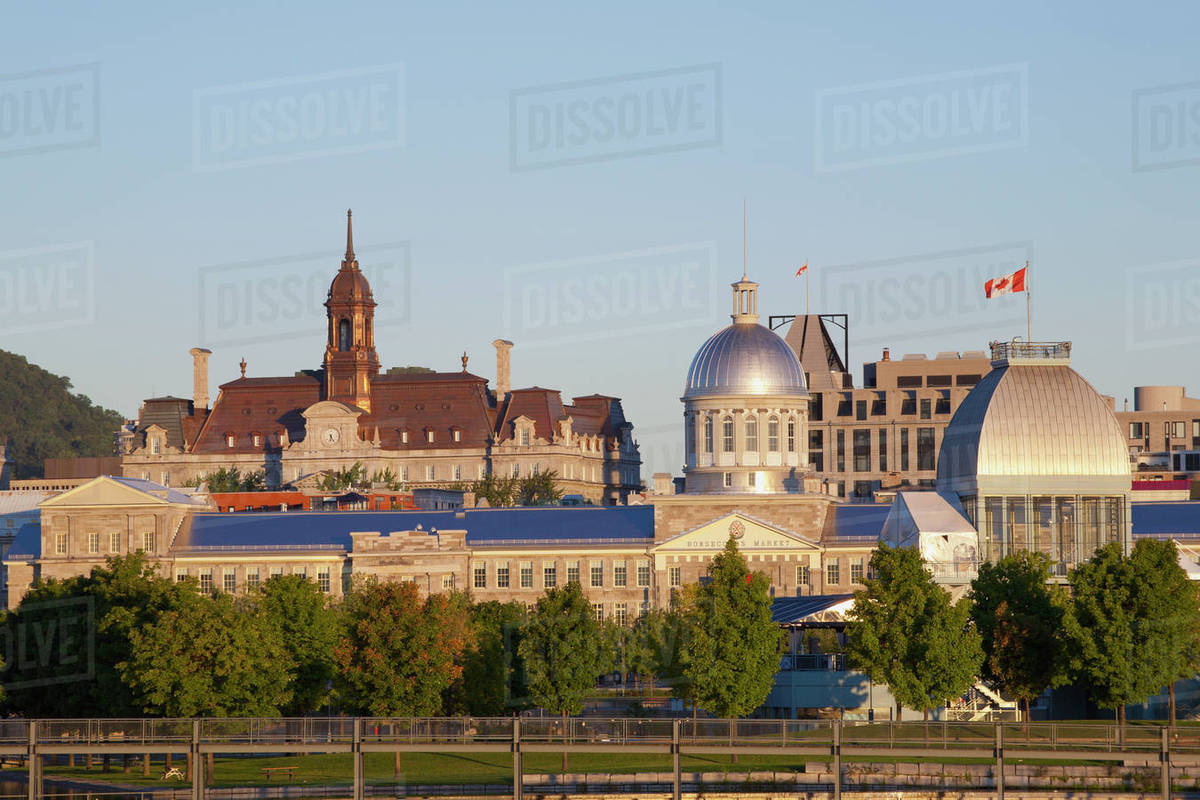 Quebec Montreal Montreal Skyline Montreal Quebec Canada Stock Photo