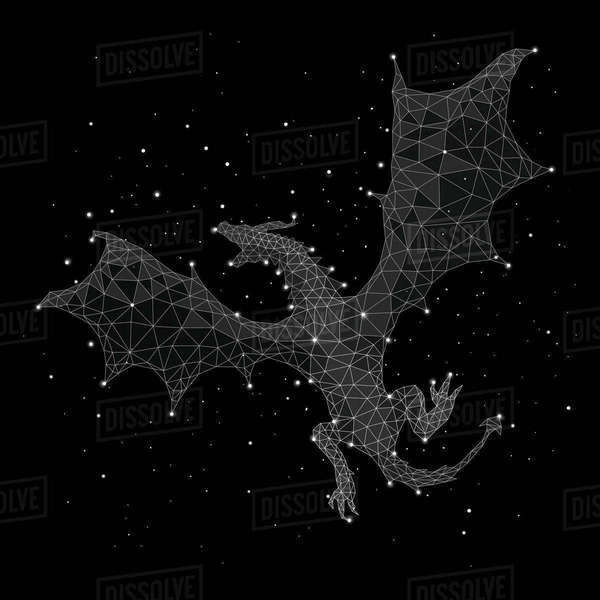 Composite image of constellation forming pig against black