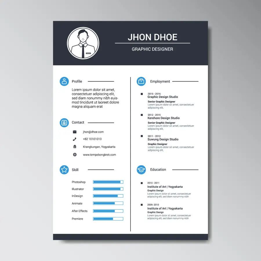 infographic resume contest