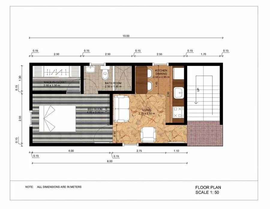 Entry #38 by Ortimi2020 for simple layout 2 executive apartments (2