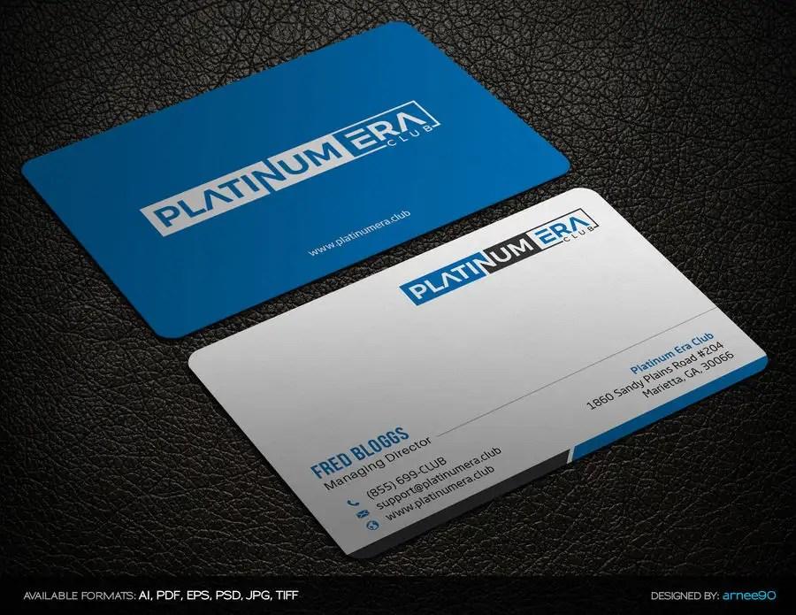 Entry #1 by arnee90 for Design Business Card for Platinum Era Club - club card design