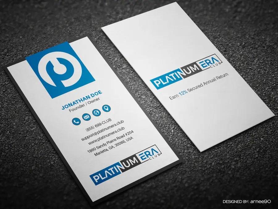 Entry #171 by arnee90 for Design Business Card for Platinum Era Club - club card design