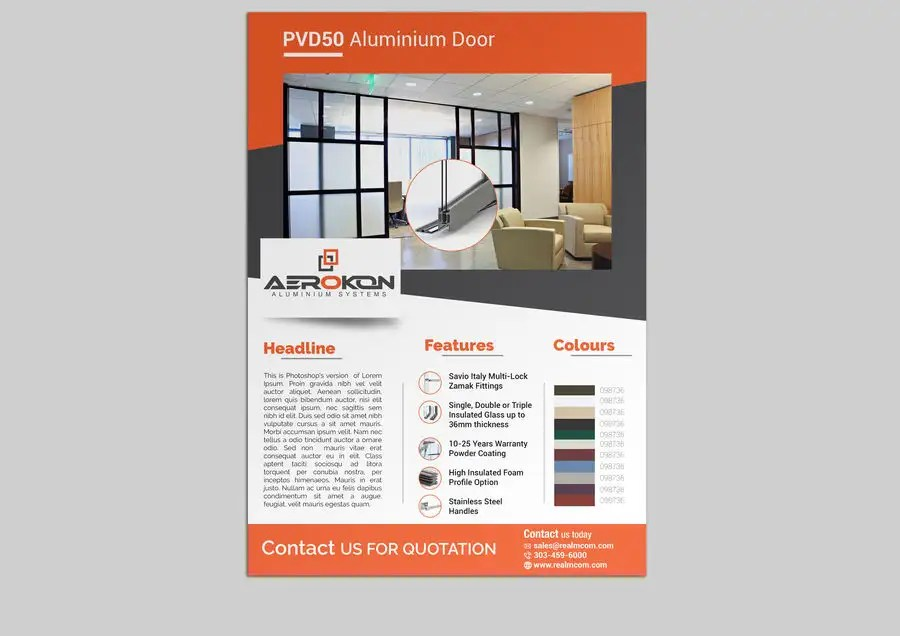 Entry #59 by stylishwork for Product Flyer Windows and Doors