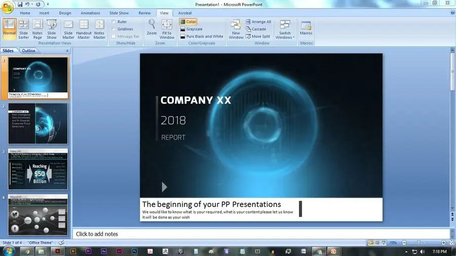 Entry #5 by nassairuddin for Make my powerpoint presentation look