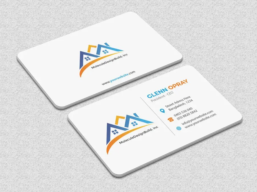 Entry #6 by iqbalsujan500 for 2 sided Business Card Layout  Logo