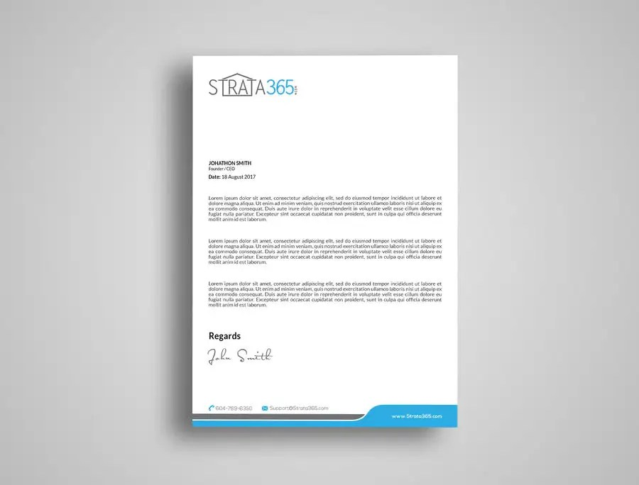 Entry #38 by kushum7070 for Design some Stationery - Letterhead