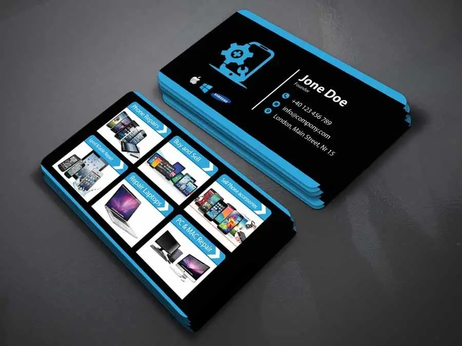 Entry #30 by najmul663 for Need business cards template for mobile