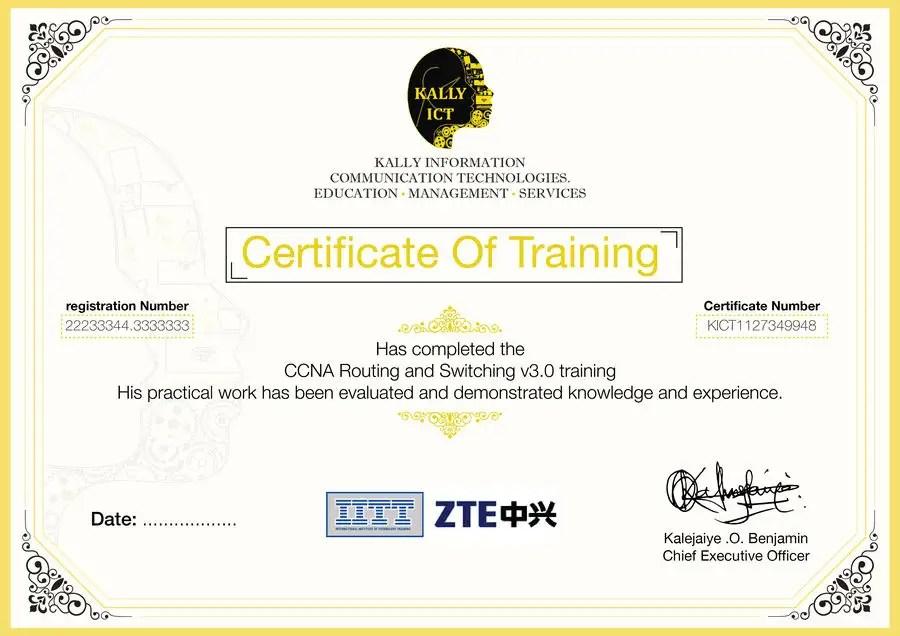 Entry #34 by Tarikhm for Training Certificate Design Freelancer