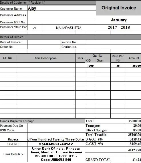 Entry #6 by Bestwebfreelanc for Create 3 invoice templates for