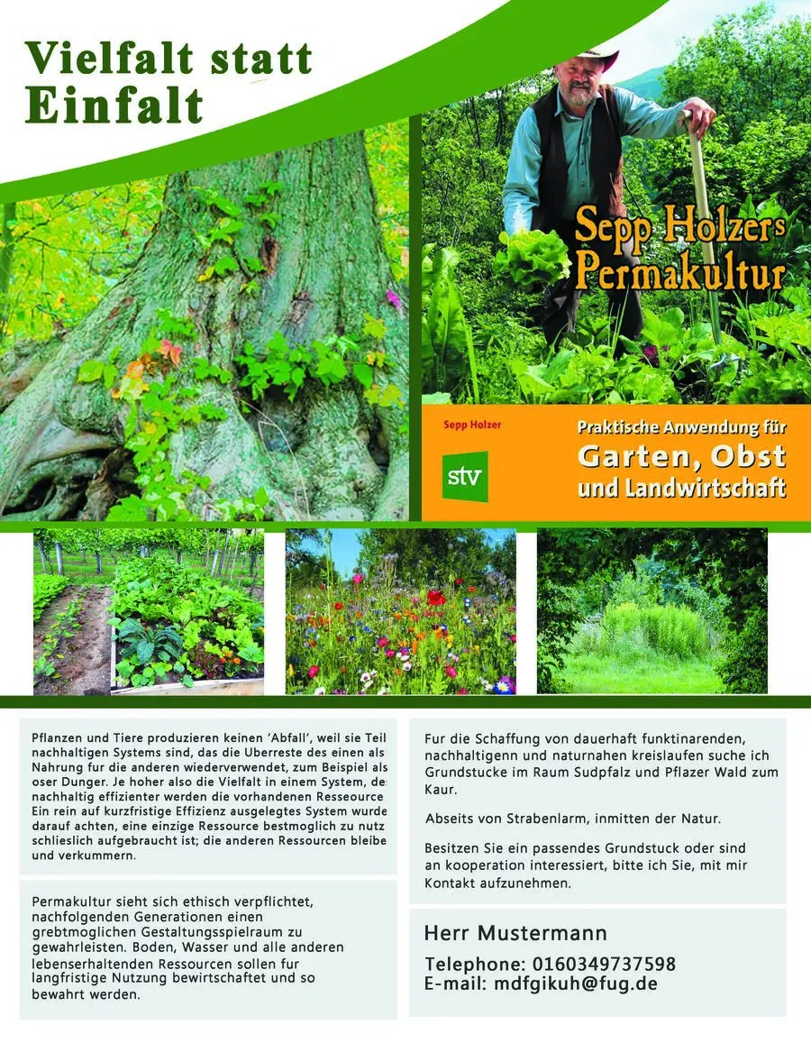 Permakultur Garten Was Ist Das Entry 41 By Adiba306hassan For Design A Flyer For Permakultur
