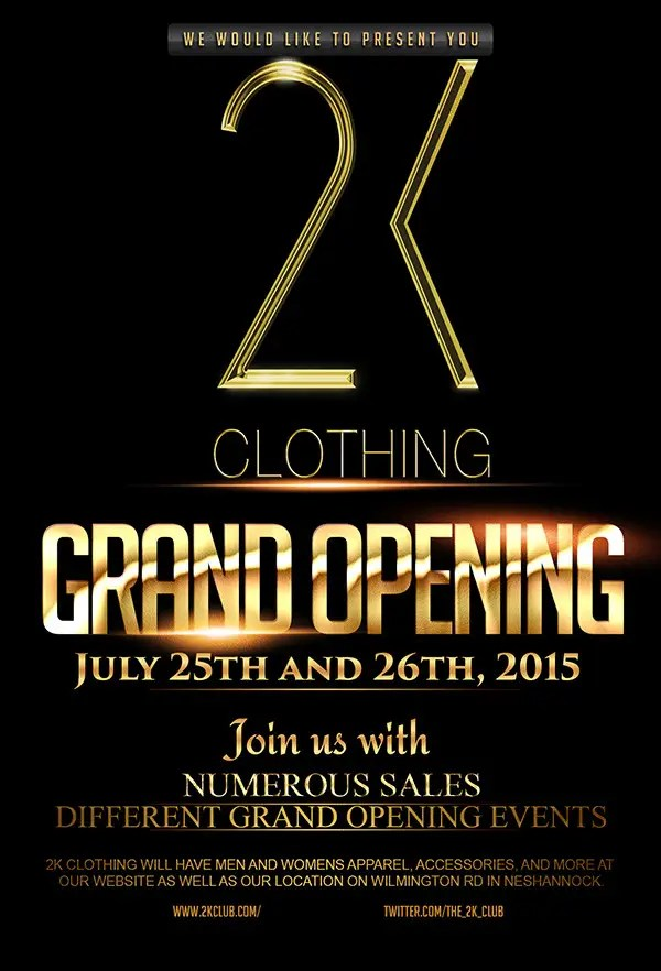 Entry #37 by djmalibiran for Design a Flyer for grand opening of - Grand Opening Flyer