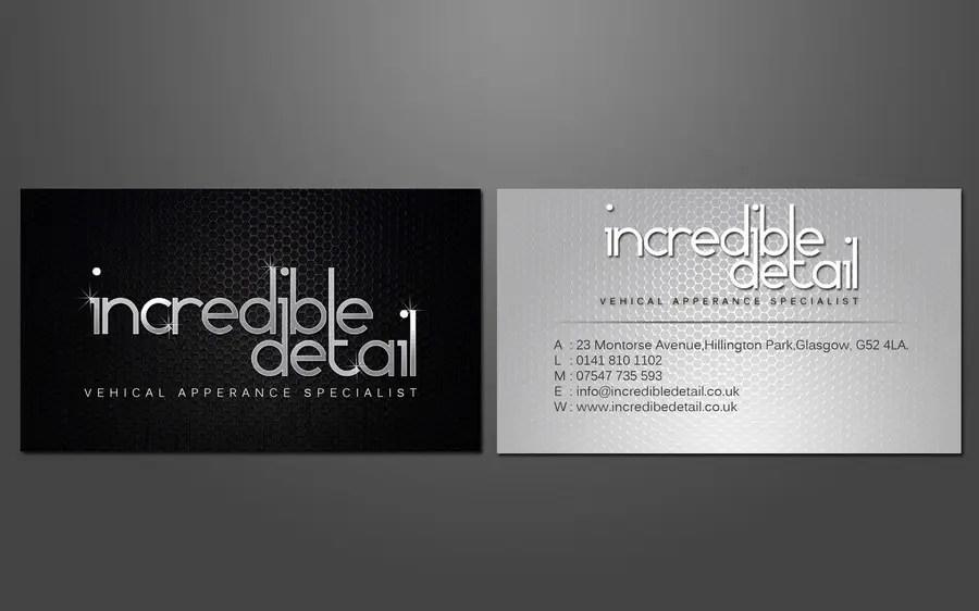 Car Detailing Business Cards   cvfree.pro