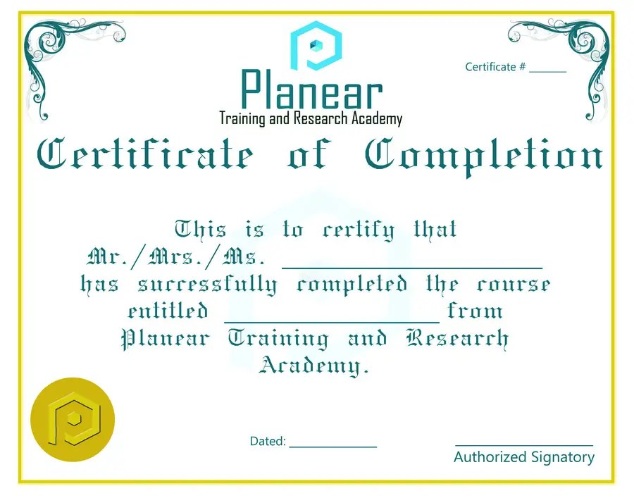 Entry #25 by mmomin93 for Design a Course Completion Certificate for