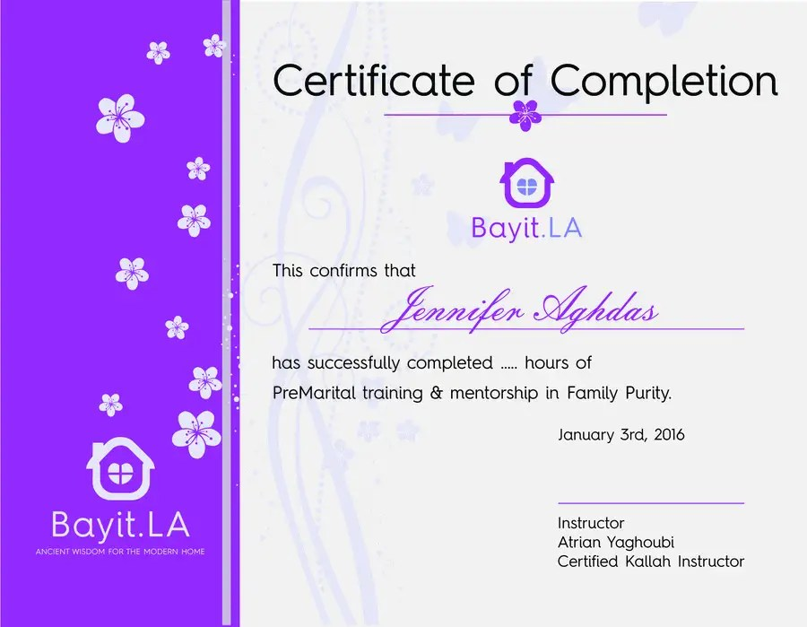 Entry #8 by wahidjuliyanto for make a certificate of completion