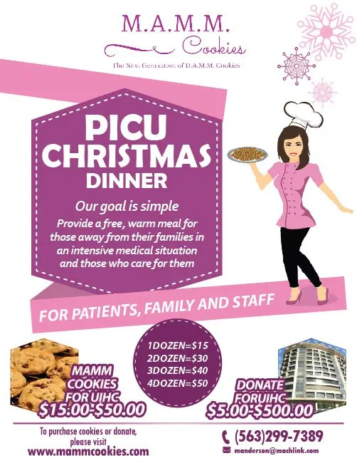 Entry #29 by felixdidiw for MAMM Cookie Fundraiser Flyer for ICU - christmas luncheon flyer