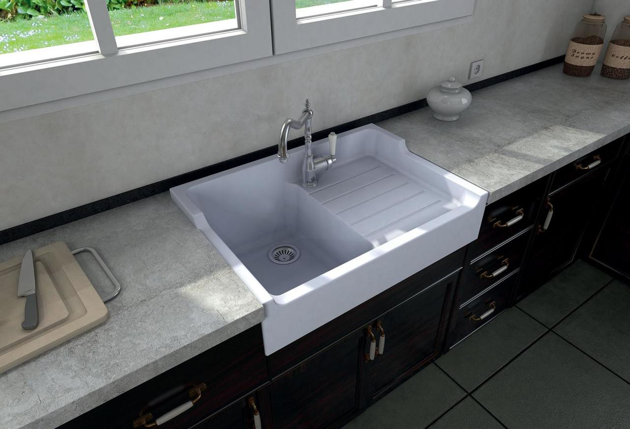 Ceramic Kitchen Sink Chambord Francois I White Ceramic Kitchen Sink Sinks