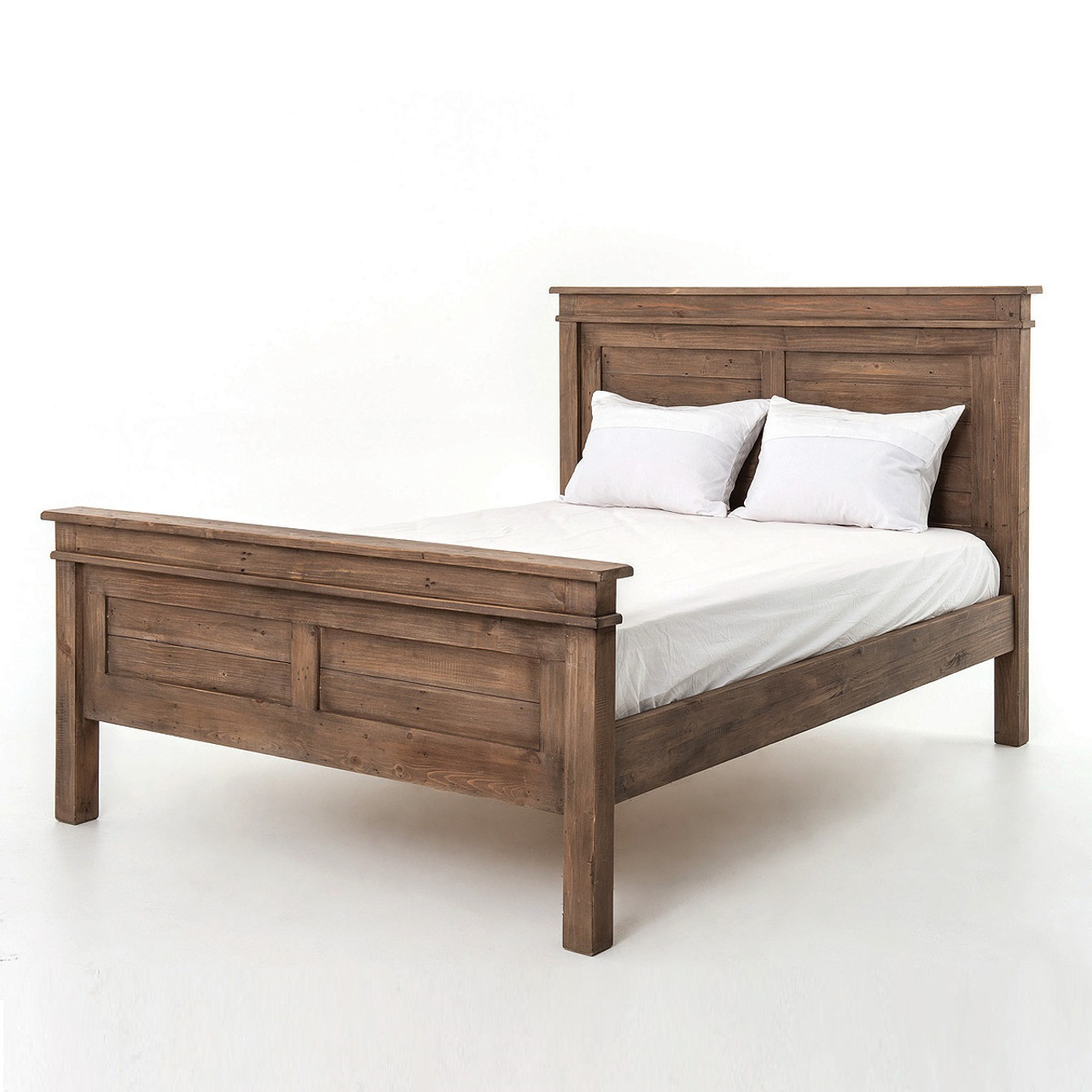 Sierra Reclaimed Wood Queen Size Platform Bed Zin Home