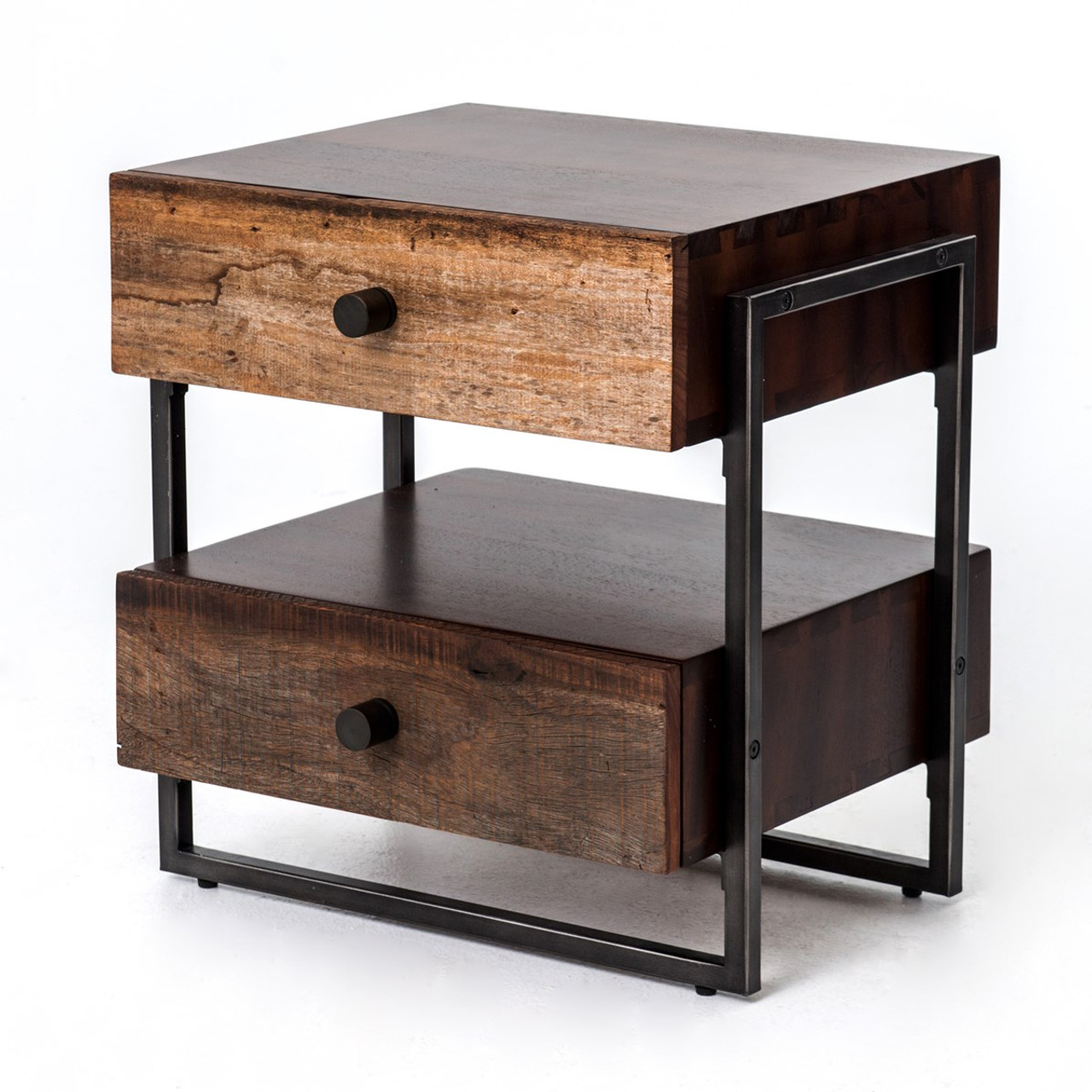 Industrial Look End Tables Milo Industrial 2 Drawer End Table Zin Home