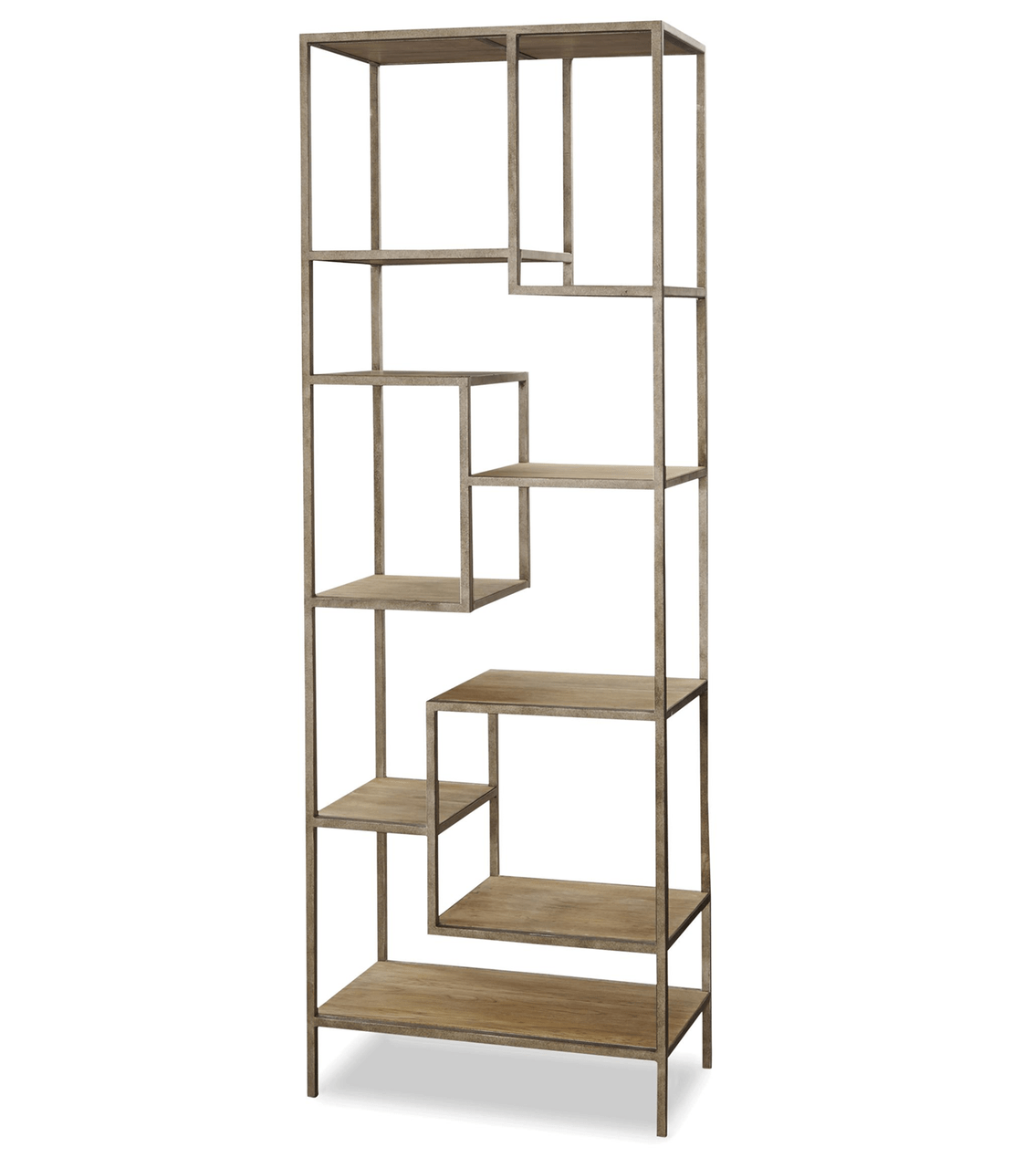 Etageres Metal French Modern Industrial Wood 43 Metal Bookcase Etagere