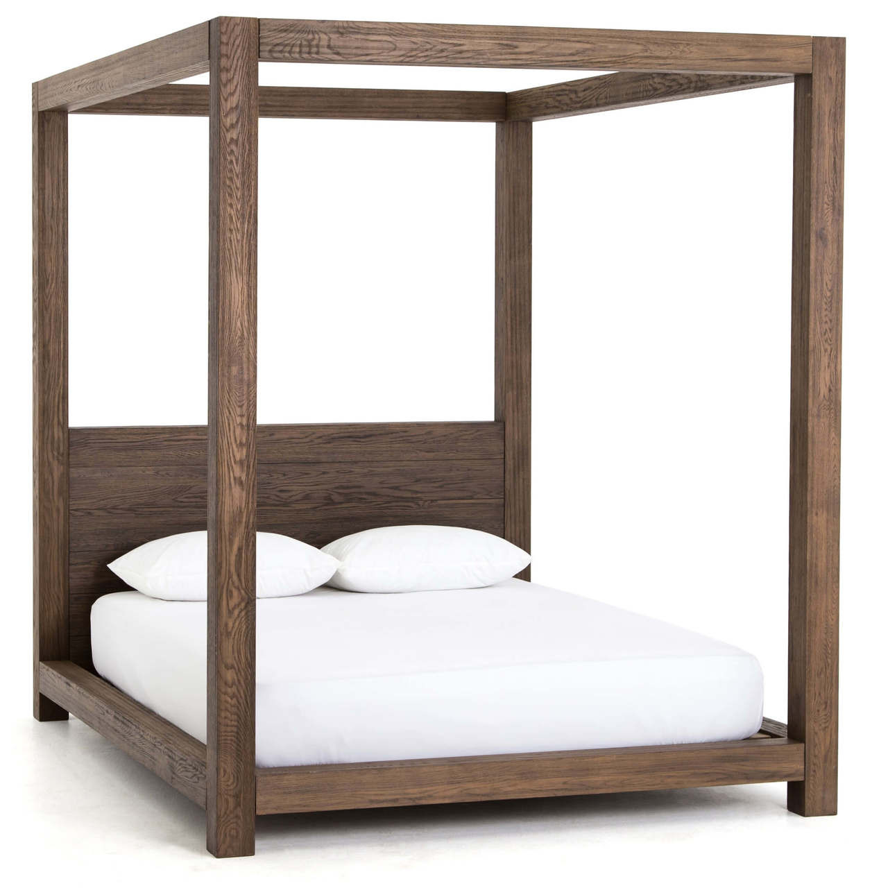 Canopy Bed Frame Williams Wood Platform Queen Canopy Bed Frame Grey Zin