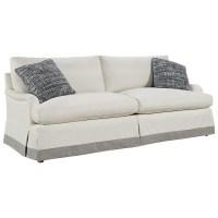 "Carmichael English Rolled Arm Skirted Sofa 89"" | Zin Home"