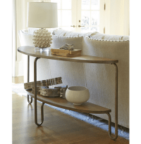 French Modern Wood + Metal Console Sofa Table | Zin Home