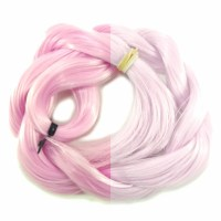 Thermal Color Change Hair, Baby Pink/White