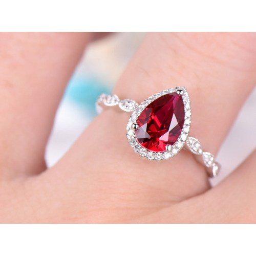 Medium Crop Of Ruby Engagement Rings
