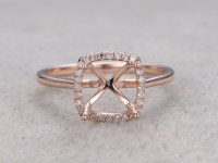 Diamond Engagement Ring Settings Rose Gold | BBBGEM