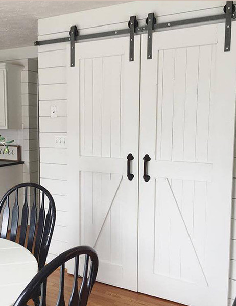 8ft Double Sliding Barn Door Hardware Kit