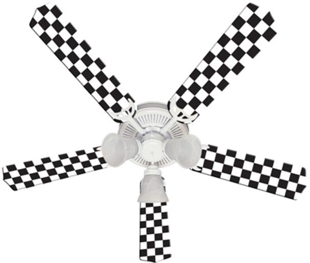 "Checkered Flag Ceiling Fan 52"""