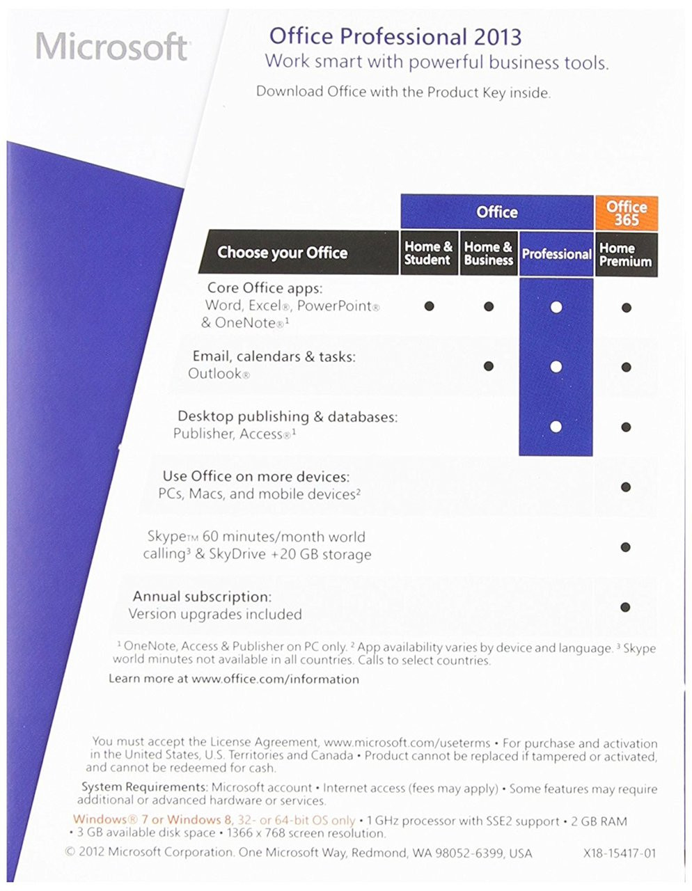 Microsoft Office 2013 Professional Plus Microsoft Office Professional 2013 32 64 Bit Full Retail Version Instant Download