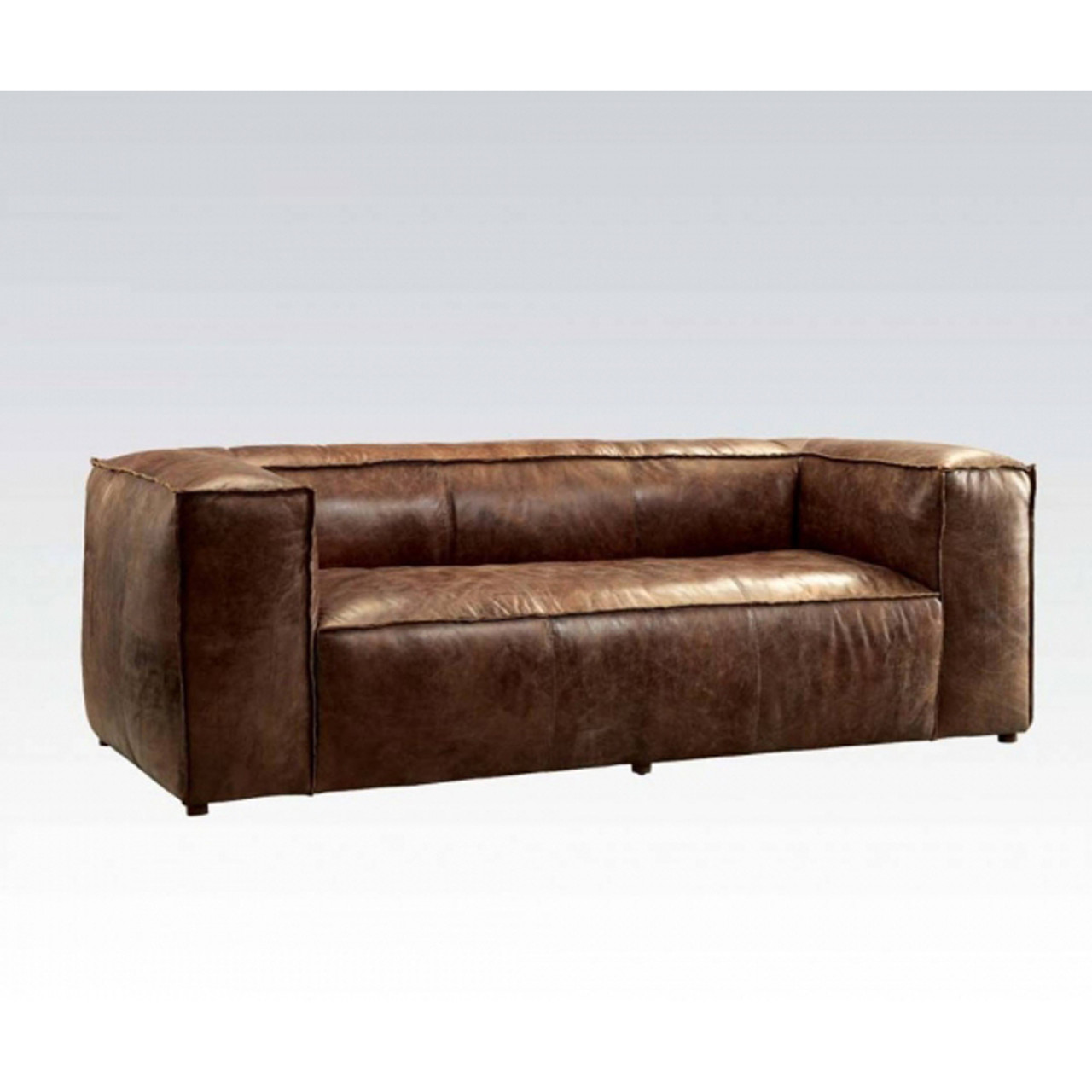 Retro Sofa Leather Brancaster Retro Brown Leather Sofa