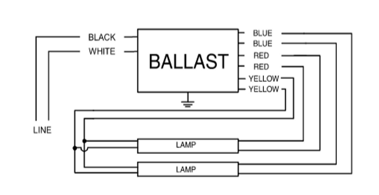 4 lamp ballast wiring