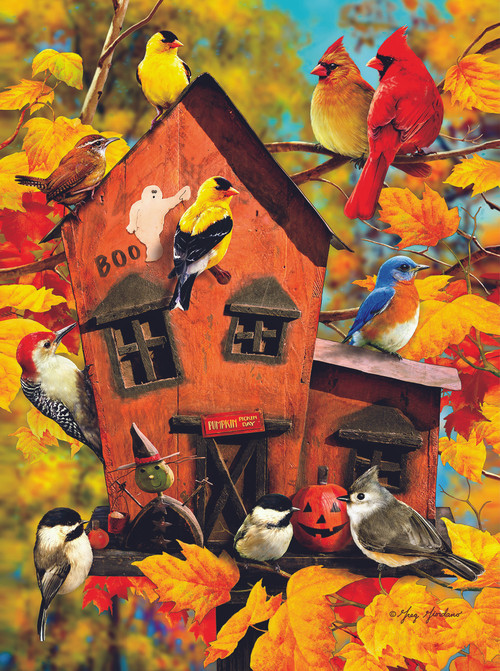 Free Fall Flowers Wallpaper Fall Birds 1000pc Jigsaw Puzzle By Sunsout