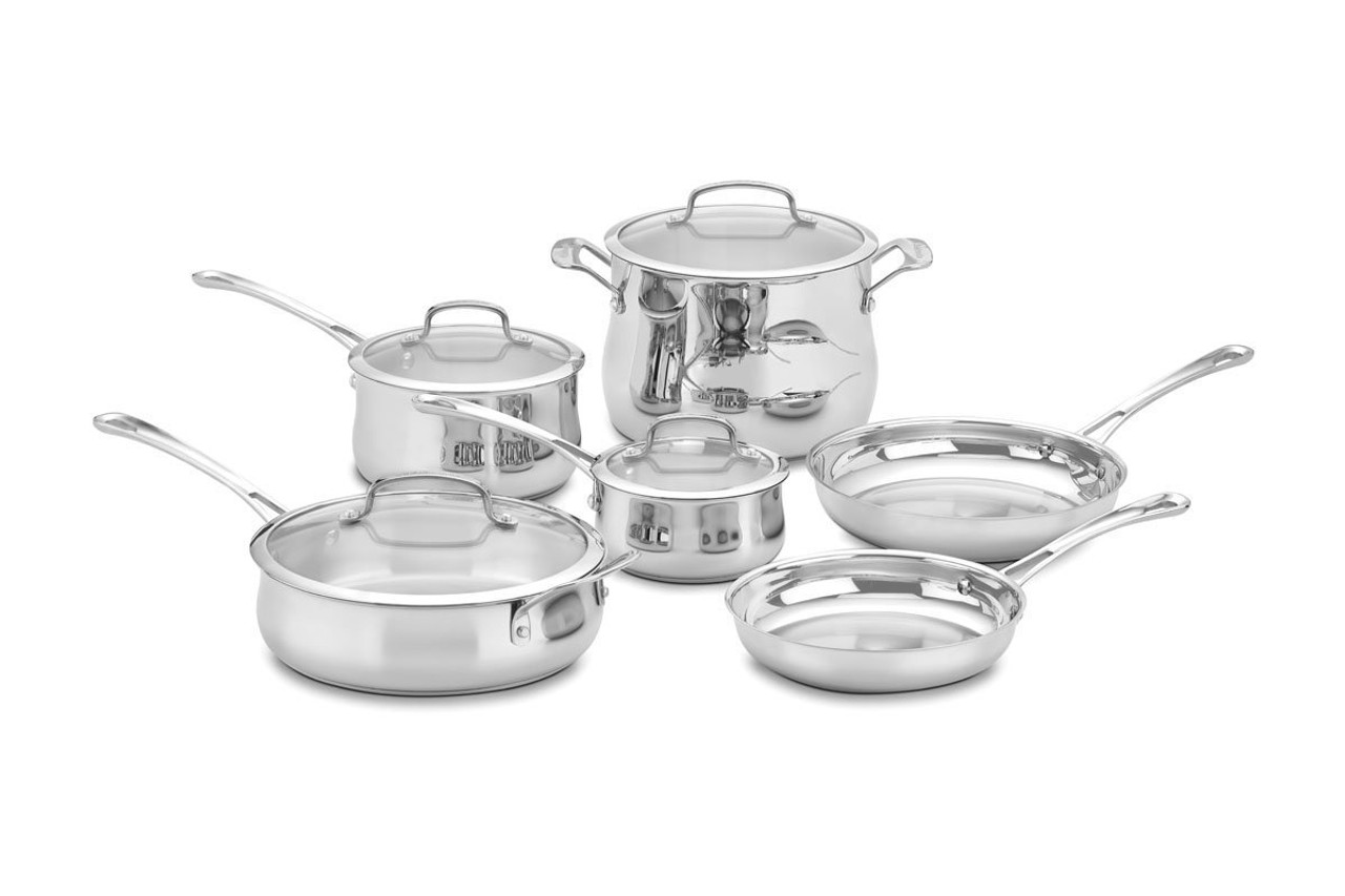 Amazon Cuisinart Stock Pot Cuisinart Contour Stainless Cookware Our Pampered Home