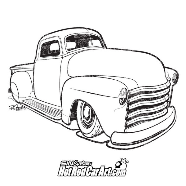 1952 ford truck hot rod