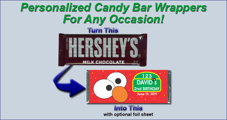 Shop by Favor - Candy Bar Wrappers - Page 1 - Favorite Announcements®