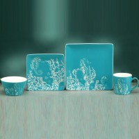 Seahorse Dinnerware & Costiera Seahorse Blue Dinner Plate