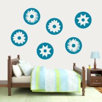 Circle Flowers Wall Decals |Wall Art | Wall Murals