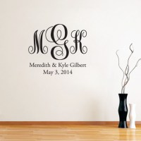 Fancy Monogram Pack Wall Decals and Stickers