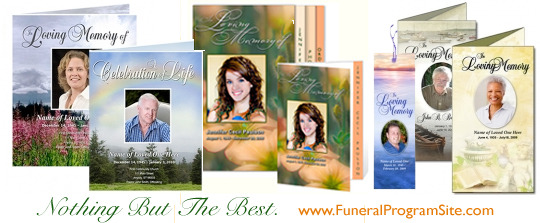 Obituary Examples Funeral Program Site