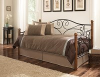Fashion Bed Group Doral Daybed in Matte Black and Walnut ...